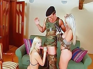 Army Big Tits Blonde Blowjob Handjob MILF Pornstar Threesome