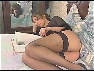 Ass Brunette Cute French Lingerie Stockings Teen