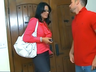 Big Tits Brunette Glasses MILF Teacher