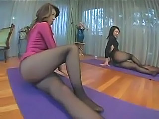 Asian ladies in pantyhose and heels part1  free