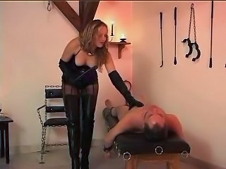 Beauty tortures 2 slaves