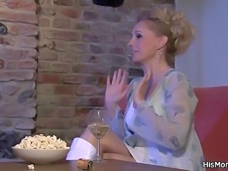 Blonde Drunk MILF Mom Pornstar
