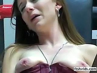 Corset Masturbating Mature SaggyTits