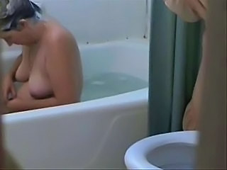 Bathroom  Masturbating Mature Mom SaggyTits Voyeur