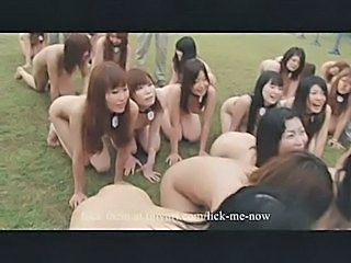 Cute Japanese Nudist Orgy Outdoor
