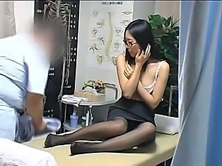Cute Glasses Japanese Massage Teen