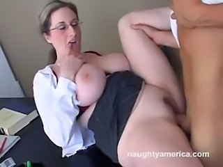 Big Tits Glasses Hardcore MILF Pornstar Teacher