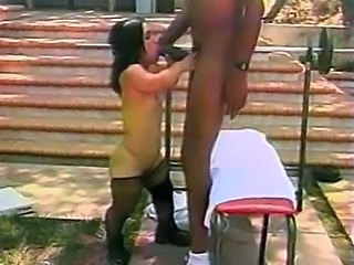 Blowjob Interracial Midget Outdoor