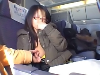 Amateur Asian Glasses Japanese Public Small Tits Teen