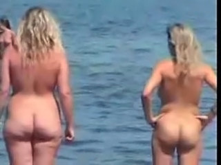 Ass Beach Chubby MILF Nudist Outdoor Voyeur