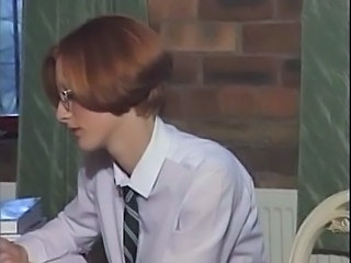 Glasses Redhead Student Uniform Vintage