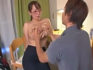Amazing Asian Big Tits Glasses Japanese MILF Teacher