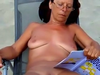 Amateur Beach Mature Outdoor SaggyTits Voyeur