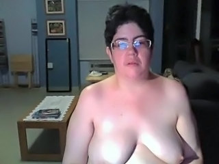 Chubby Glasses Mature SaggyTits Webcam Wife