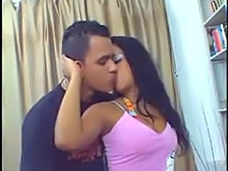 Brazilian Kissing Latina