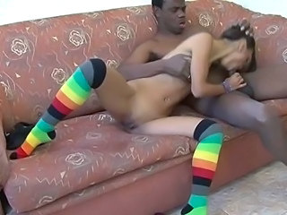 Blowjob Interracial Skinny Teen