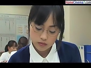 Asian Babe Cute Glasses Japanese Nurse Uniform