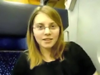 Amateur Glasses Public Teen Train