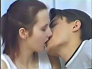 European German Kissing Sister Teen