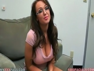 Babe Big Tits Cute Glasses Natural