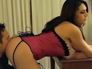 Amazing Ass Corset Cute Licking MILF Pornstar