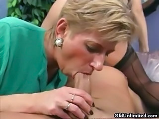 Horny mature sluts go crazy sucking part3