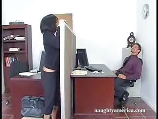 Brunette MILF Office Pornstar
