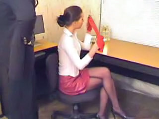 Cute Office Secretary Stockings Teen