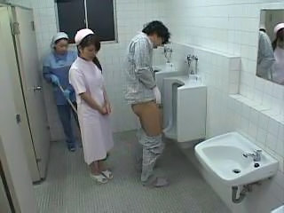 Asian Japanese Threesome Toilet Uniform