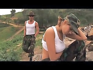 Army Babe Outdoor Pornstar