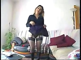 Amazing Anal European French MILF Stockings