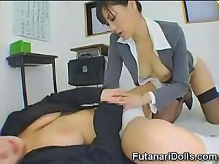Futanari Coed Gets a Blowjob