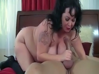 BBW Big Tits Blowjob Mature Natural Tattoo