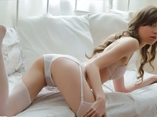 Babe Cute Lingerie Masturbating Skinny Stockings Teen