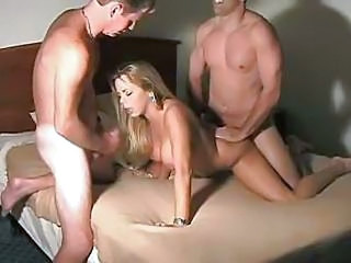 Amateur Homemade MILF Threesome Wife