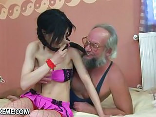 Sizzling Teen Torments This Horny Old Man