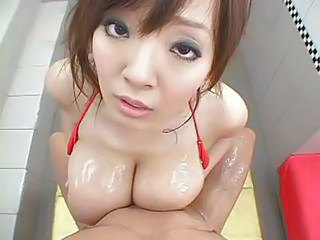 Asian Babe Big Tits Cute Japanese Natural Oiled