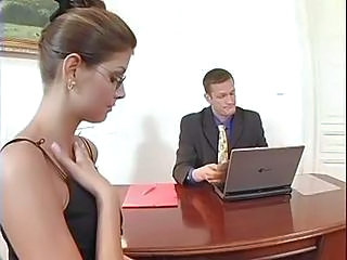 Lucky Secretary Gets A Filling From The Boss