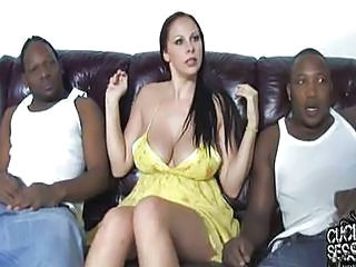 Cuckold Guy Watching Wife Fucked By Two Black