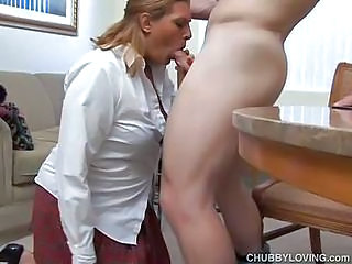 Hot Secretary Pleases With Her Boss