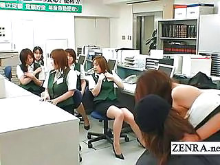 Asian Japanese Lesbian Masturbating Office Secretary Teen Uniform