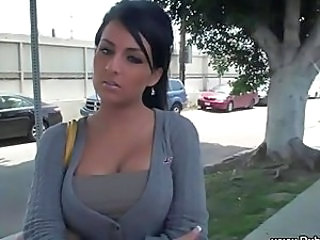 Smoking hot girl flashes in public