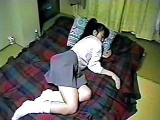 Amateur Asian Homemade Japanese Skirt Sleeping