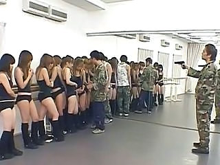 Army Asian Forced Japanese Orgy