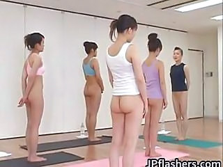 Japanese Chicks Practicing Asian...