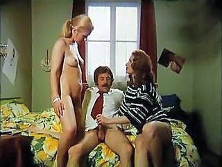 Steamy Retro Threesome With Two...