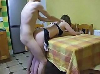 Amateur Doggystyle Kitchen MILF Wife