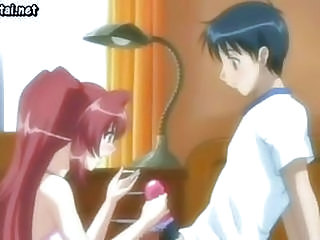 Hot Anime Teenie Rubbing A Cock...