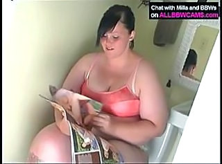 Fat plumper milla in the bathroom _: bbw big boobs hardcore