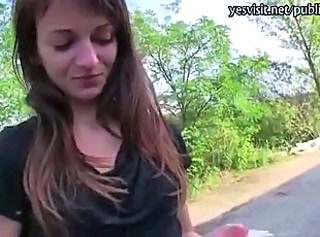 Amateur European Outdoor Skinny Teen